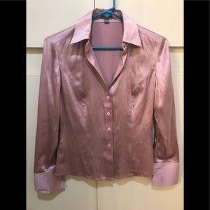 Ann Taylor Pink Chic Silk Blouse